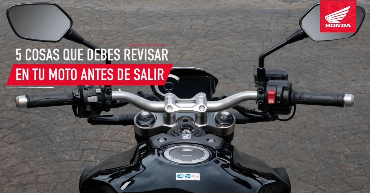 5 factores que debes revisar en una moto antes de salir