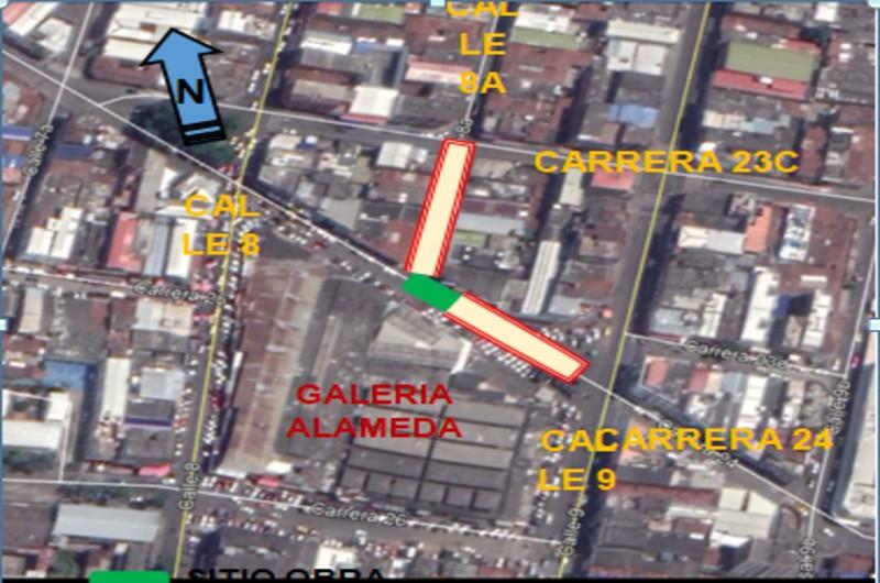 Vías del barrio Alameda serán cerradas durante siete meses por obras de Emcali